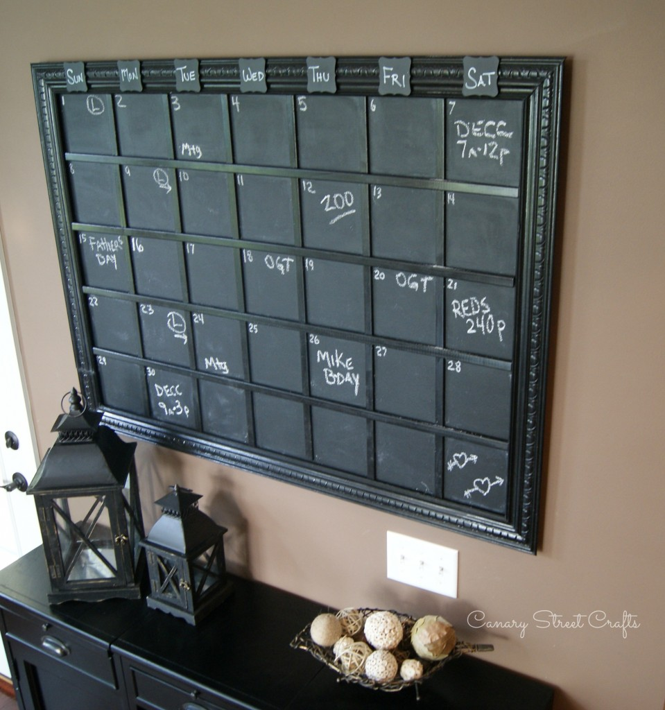 diy large chalkboard calendar canary street crafts