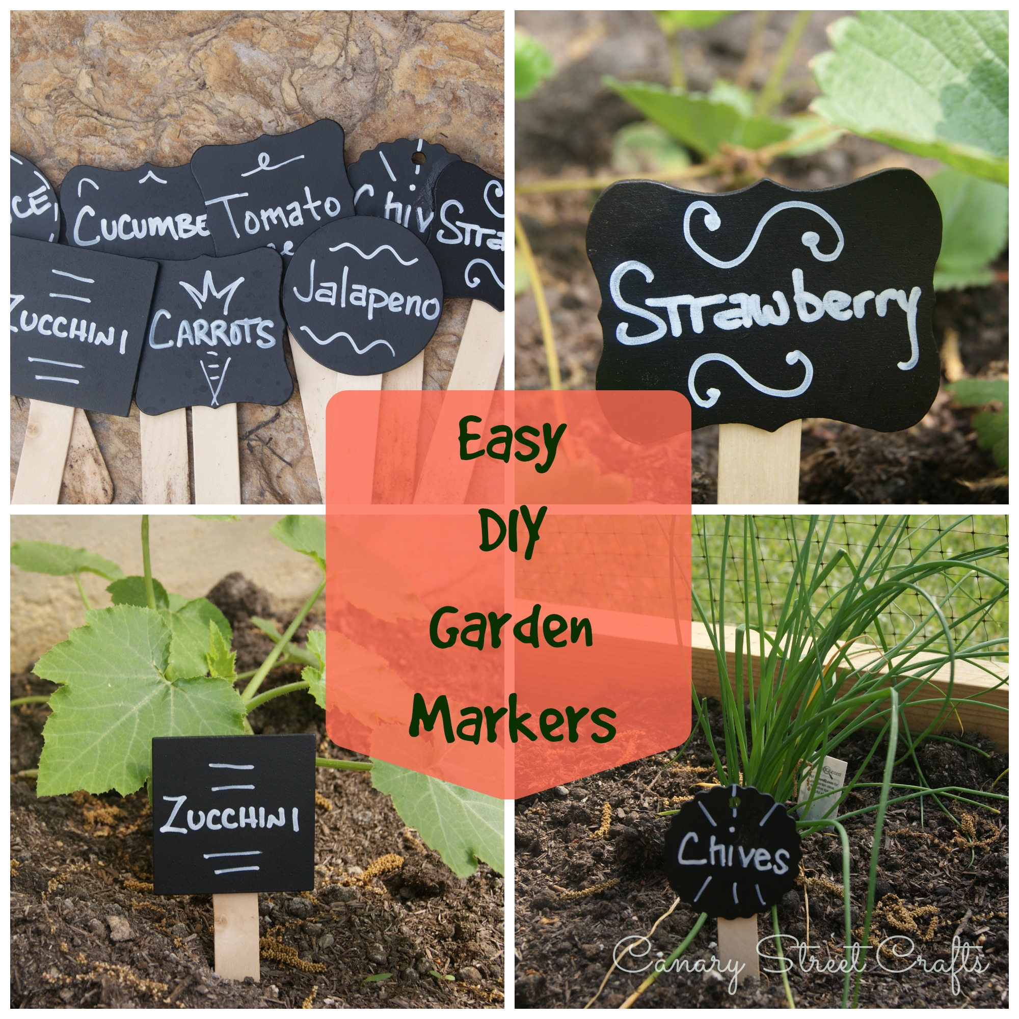 Easy DIY Garden Plant Markers - Canary Street Crafts