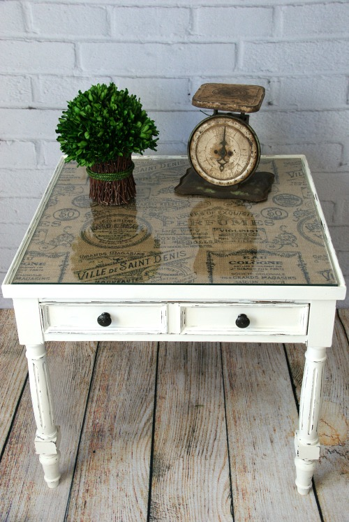 Grey And White Wood Coffee Table
