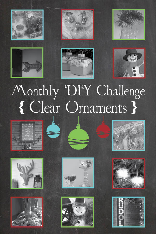 14 unique projects made from clear ornaments! {Canary Street Crafts}