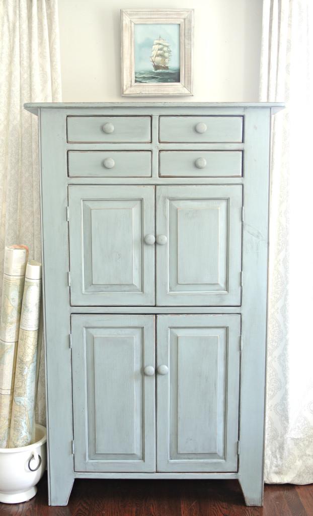Coastal Cabinet {Farmhouse Blues Interiors}