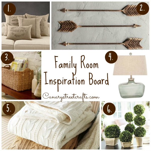 Family Room Inspiration Board - Canary Street Crafts