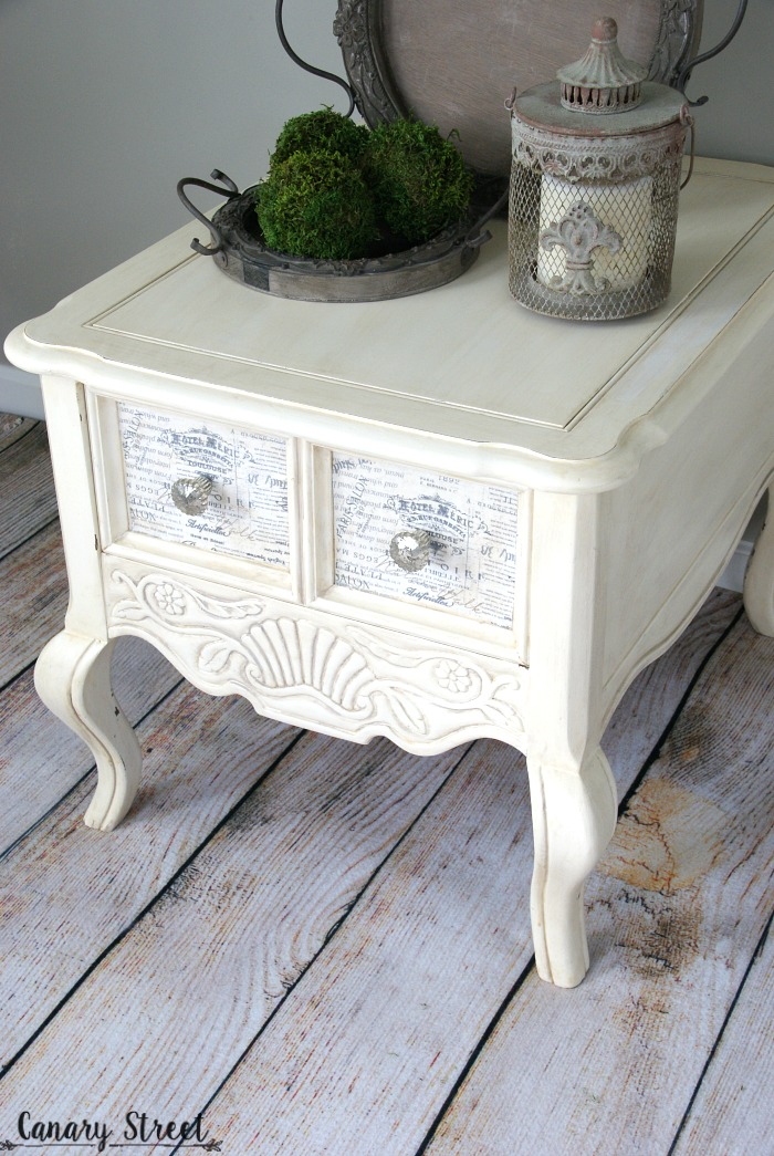 French Provincial Side Table Canary Street Crafts