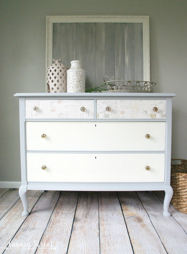 Paris Grey And White Dresser Canary Street Crafts