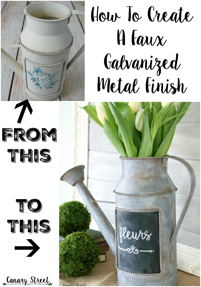 How to create a faux galvanized metal finish canary for Craft paint for metal