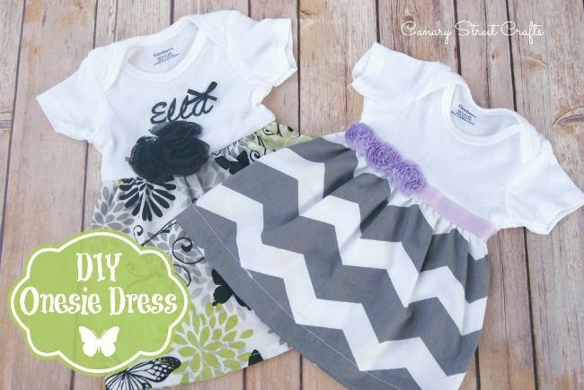 how to make a onesie dress canary street crafts