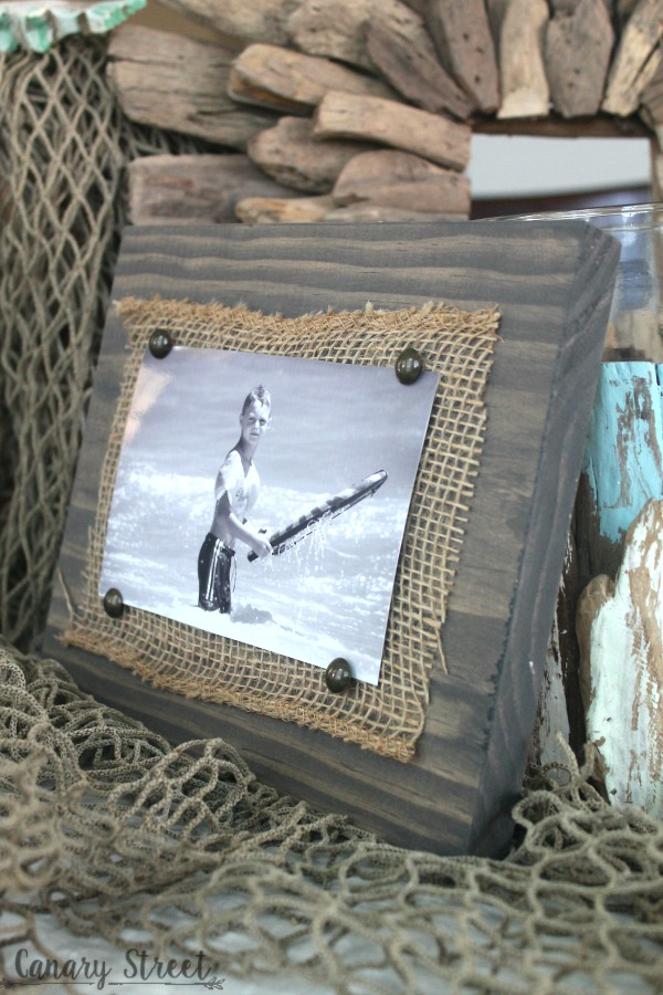 Easy Scrap Wood And Burlap Picture Frame - Canary Street Crafts