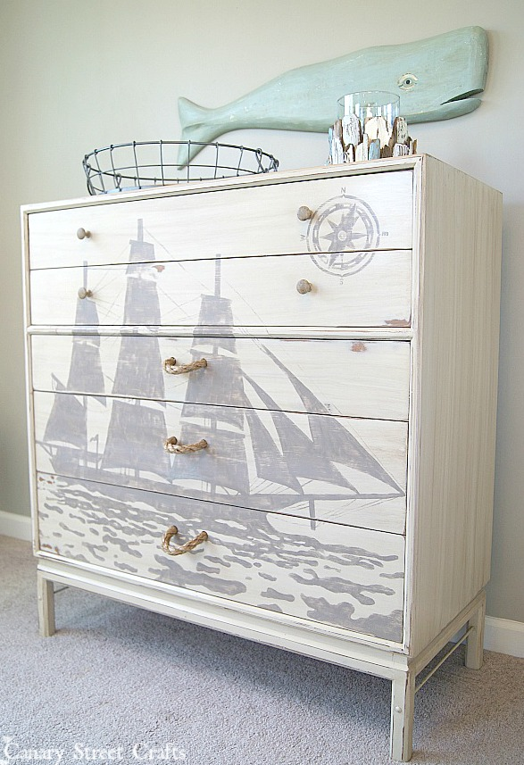 Ship Silhouette Chest Of Drawers Canary Street Crafts